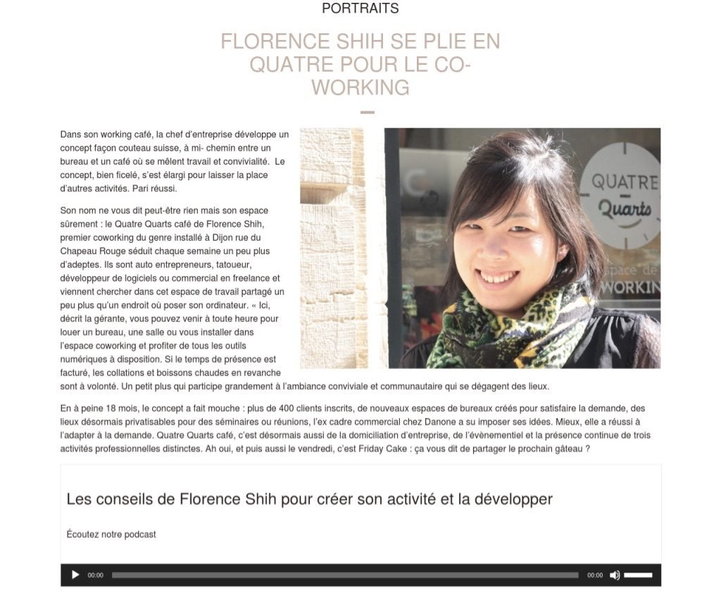 Portrait Florence Shih we love bourgogne